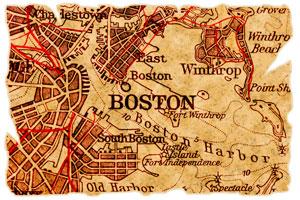 old map of Boston, Massachusetts